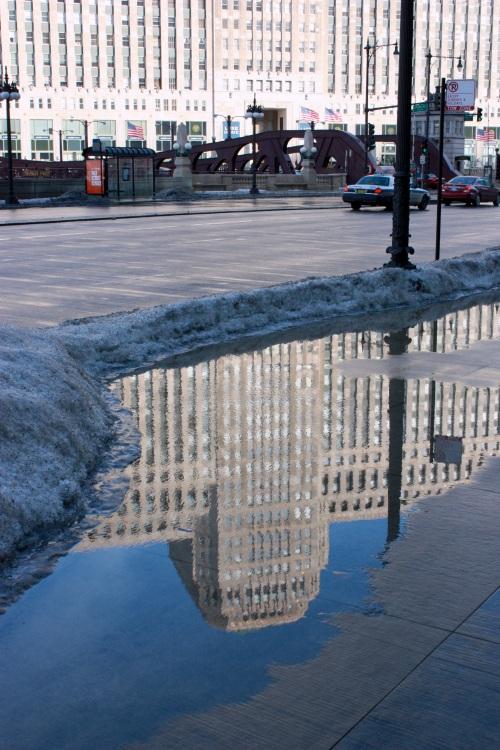 Sidewalk lake.
