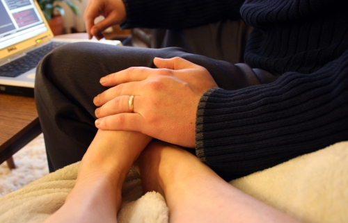 Wonderful Husband/Foot Warmer. <3
