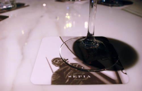 Carrera marble and wine...very fine.