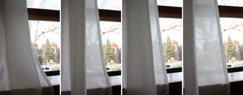 A sequence of the breeze in the curtains. I guess this was better in real-life.