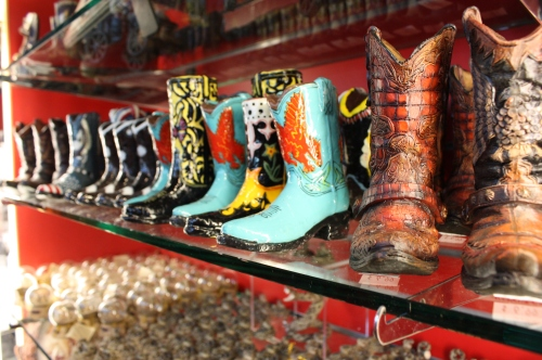 Delightful candles shaped into boot form.
