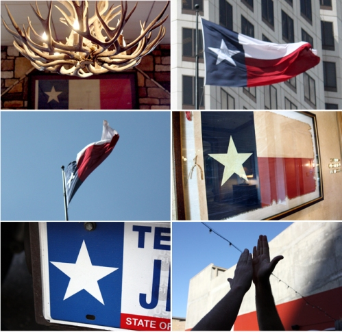 I spy something red, white, and Texan.