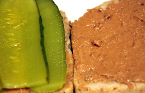 Peanut Butter Pickle Sandwich