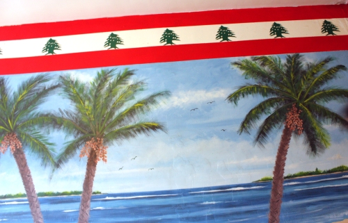Glorious tropical wall mural.