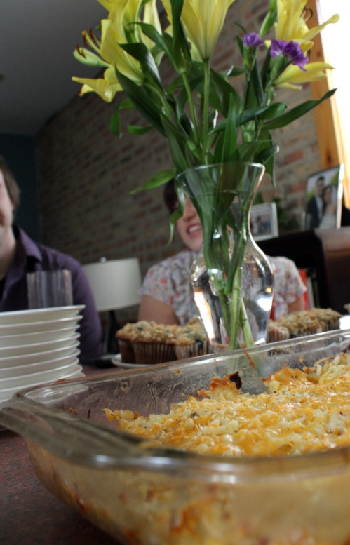 Amber's Brunch! Easter cheesy potatoes. mmmmm.