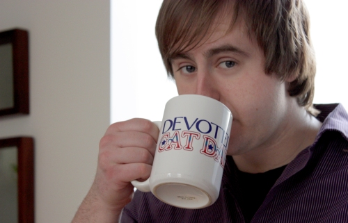 This is actually a Joe Davis mug, seeing as Ryan is in fact a Dog dad. Still awesome though.