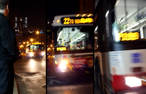 I don't know what possessed me to take a picture of the 22 Bus as it approached. I had no way of telling it would be such a wild ride.
