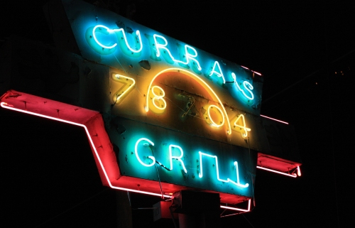 Curras. Best Tex-Mex food I have ever put in my mouth. I don't even have photos of the plate because it was devoured almost instantly. Our waiter was also insanely nice. We don't have that kind of service in Chicago.