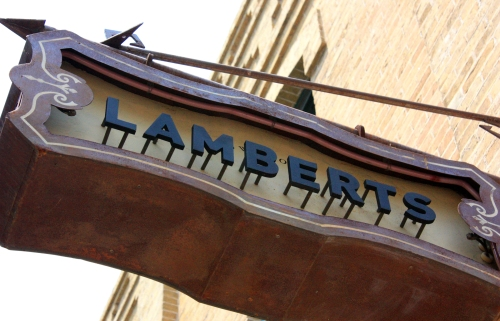 Lamberts. Great gods of smokey meats with a side of macaroni this was fantastic.