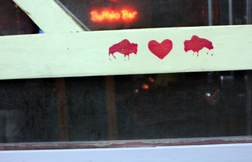 And buffalos! Love them. They also seem to love themselves. Love for all.