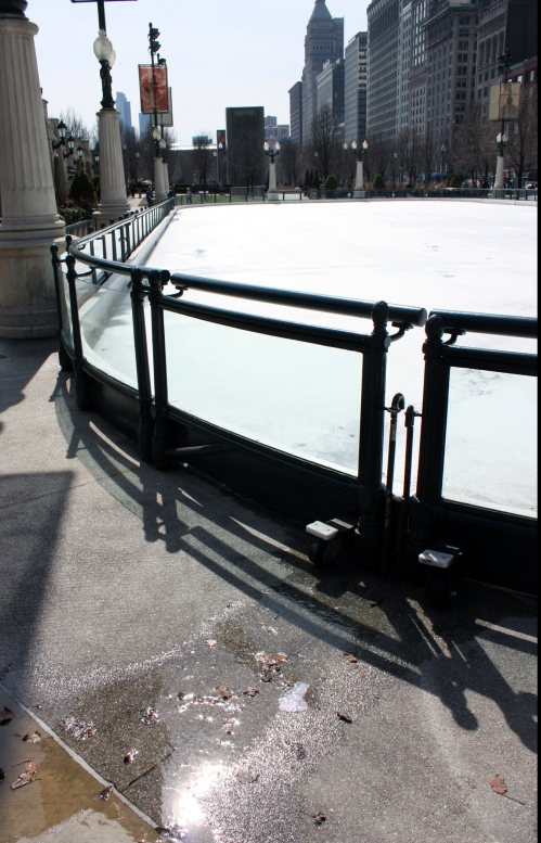 The rink is melting!